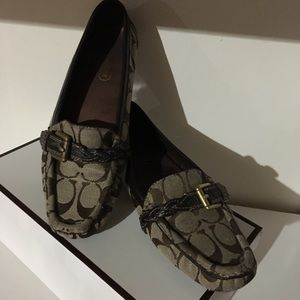 Coach C Print Loafers